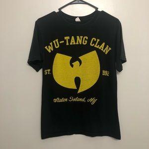 Wu Tang Clan graphic t shirt black and yellow